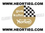 Gus Kuhn Norton Tank and Fairing Transfer Decal DGK1-20 Gold